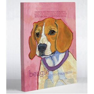 Doggy Decor Beagle 1 Painting Print on Wrapped Canvas by One Bella Casa
