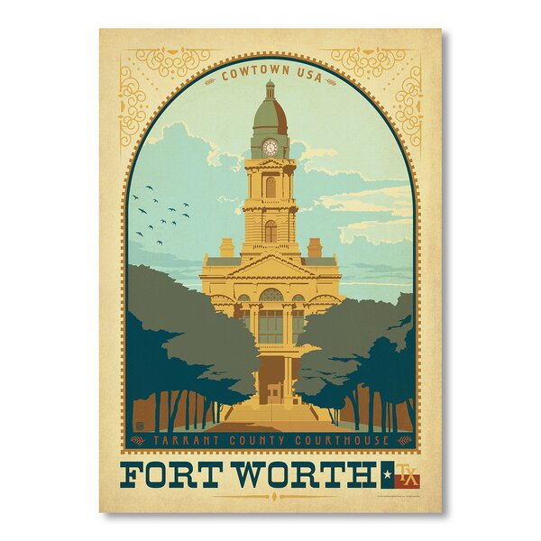 Fort Worth TX Vintage Advertisement by East Urban Home