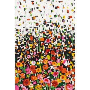 'Flower Shower I' Painting Print on Canvas by East Urban Home