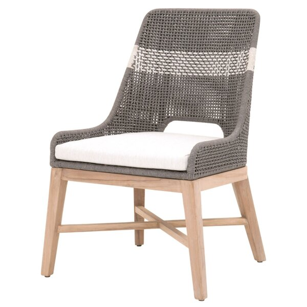 Opas Upholstered Parsons Chair In Gray By Bungalow Rose