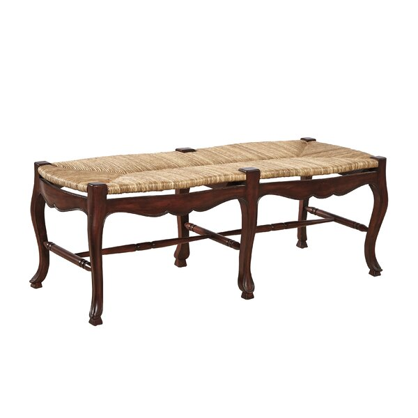 French Country Wood Bench by Furniture Classics