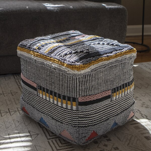 Sabbagh Square Pouf by Bungalow Rose