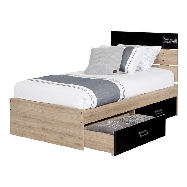 Fakto Industrial Twin Platform Configurable Bedroom Set by South Shore