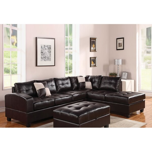 Weekend Promotions Lach Reversible Modular Sectional by Winston Porter by Winston Porter