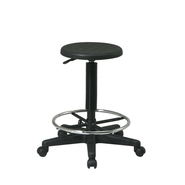 Height Adjustable Drafting Stool with Footring by Office Star Products
