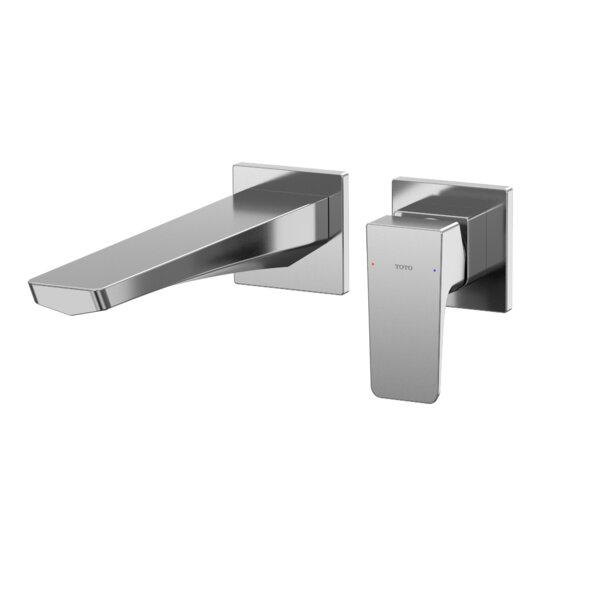Single-Handle Long Wall-Mount Bathroom Faucet With Comfort Glide Technology By Toto