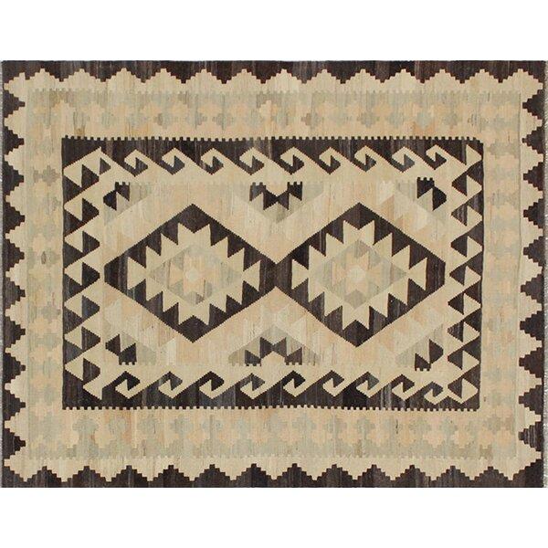 Rucker Kilim Handwoven Flatweave Wool Ivory Area Rug by World Menagerie