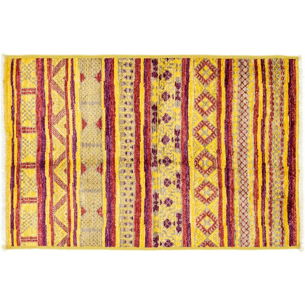 One-of-a-Kind Marrakesh Hand-Knotted Yellow Area Rug by Darya Rugs