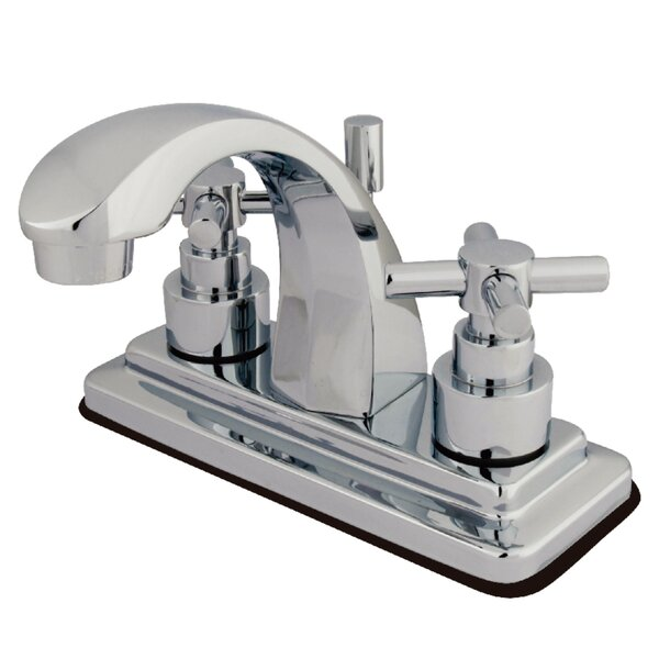 Elinvar Centerset Bathroom Faucet With Brass Pop-Up Drain By Kingston Brass
