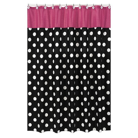 Hot Dot Cotton Shower Curtain by Sweet Jojo Designs