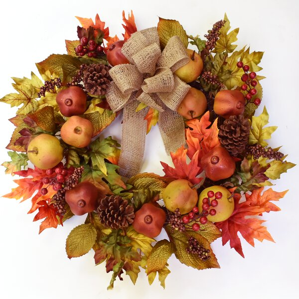 24 Faux Fruit Wreath by August Grove
