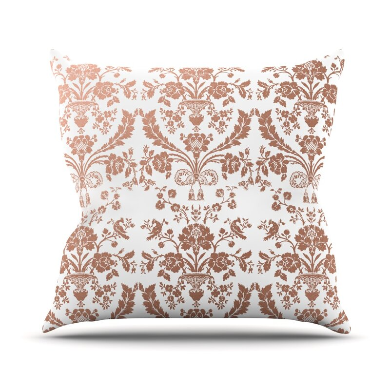 Baroque Rose Throw Pillow
