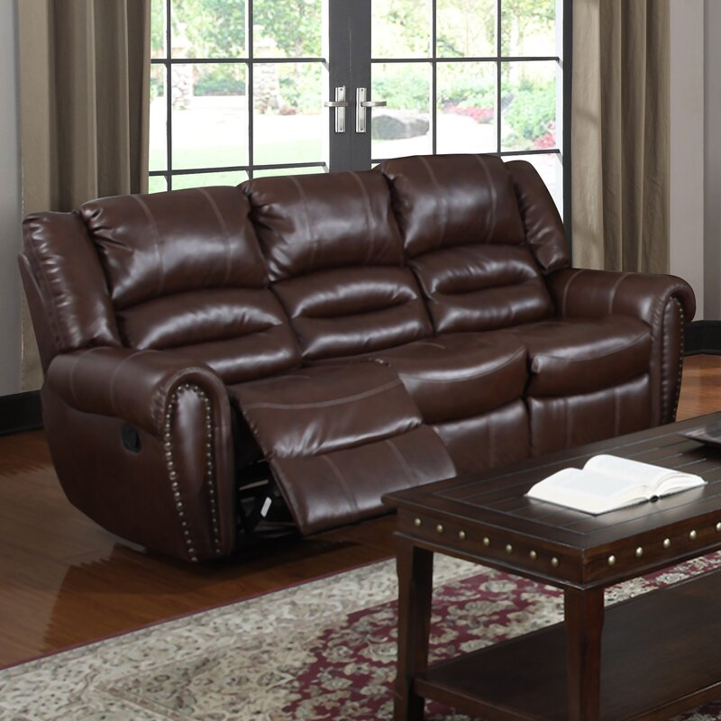 Brady Leather Reclining Sofa : brown leather reclining couch - islam-shia.org