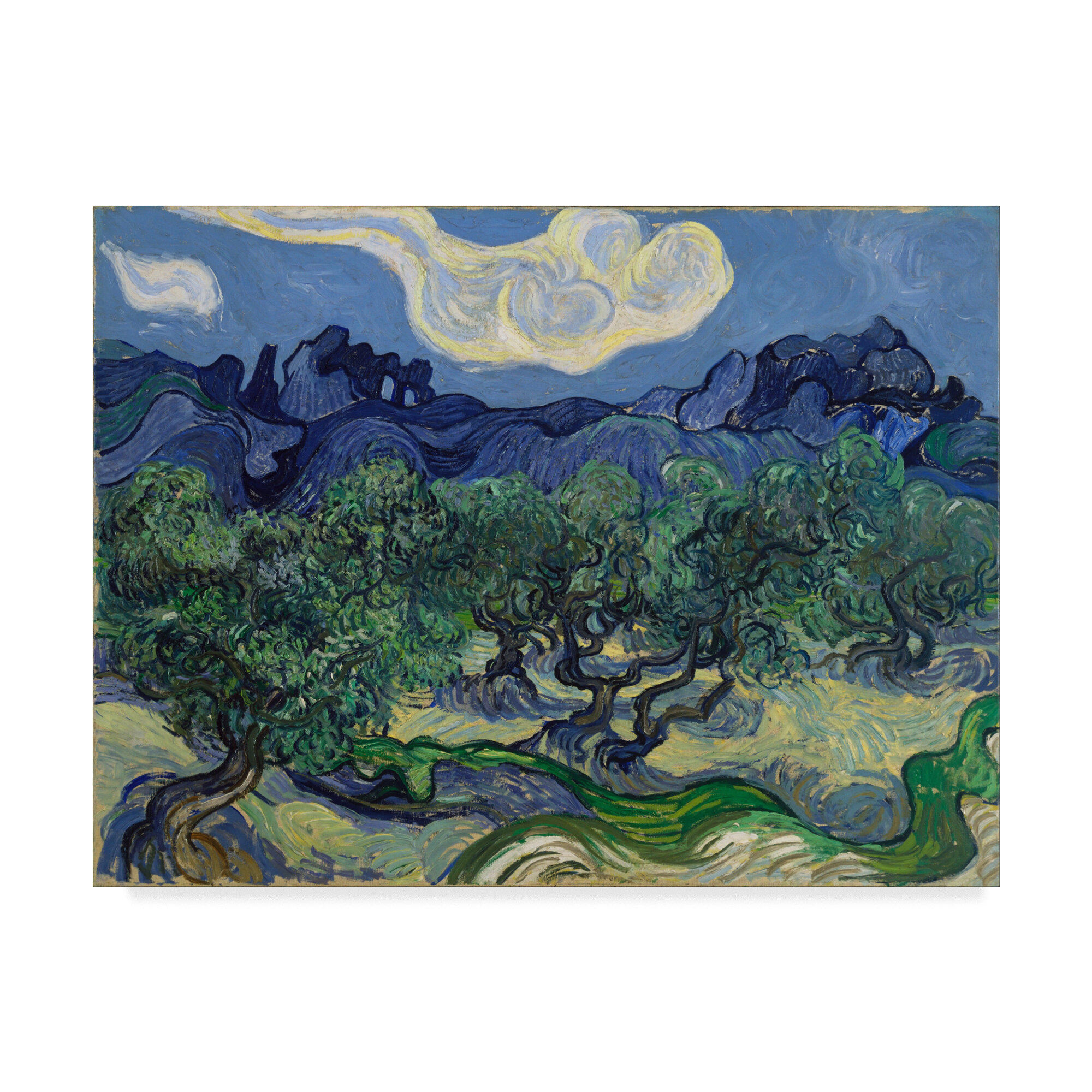 Les Alpilles a mountain landscape near Saint-Rémy by Van Gogh Giclee Repro