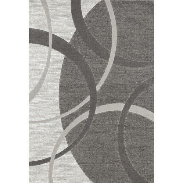 Castillo Gray Abstract Indoor/Outdoor Area Rug by Orren Ellis