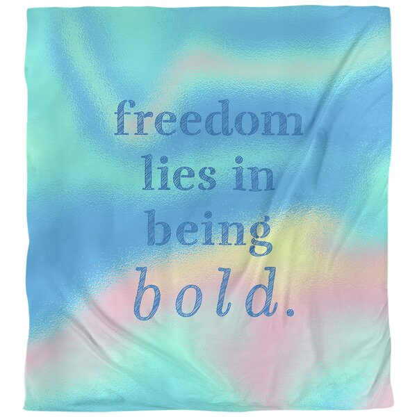 Be Bold Inspirational Quote Single Duvet Cover