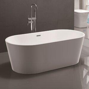 67 5  x 32  Freestanding Soaking BathtubFreestanding Tubs. 2 Person Soaking Tub Freestanding. Home Design Ideas