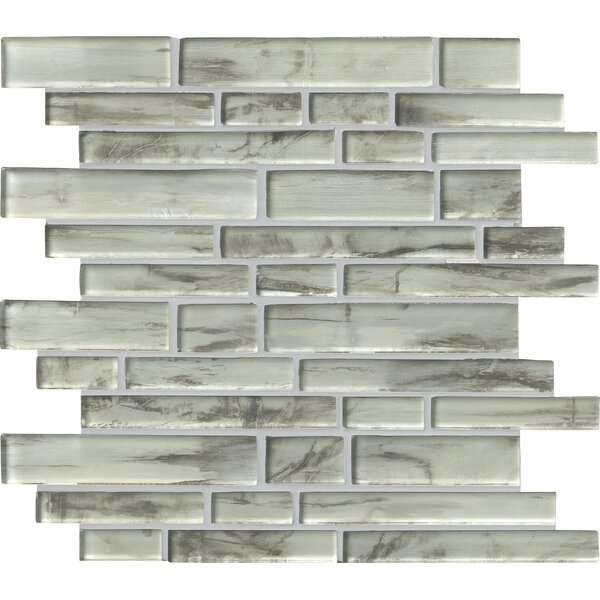 Silvermist Random Sized Glass Mosaic Tile in Gray by MSI