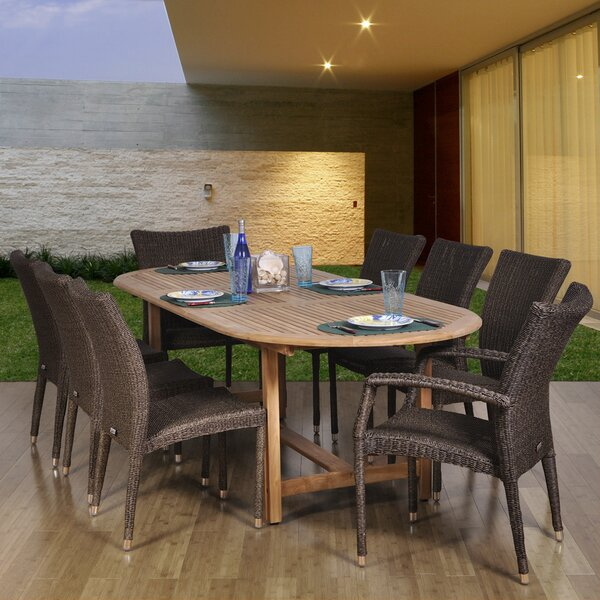 Brighton 9 Piece Teak Dining Set by Sol 72 Outdoor
