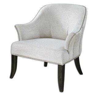 Leisa White Barrel Chair