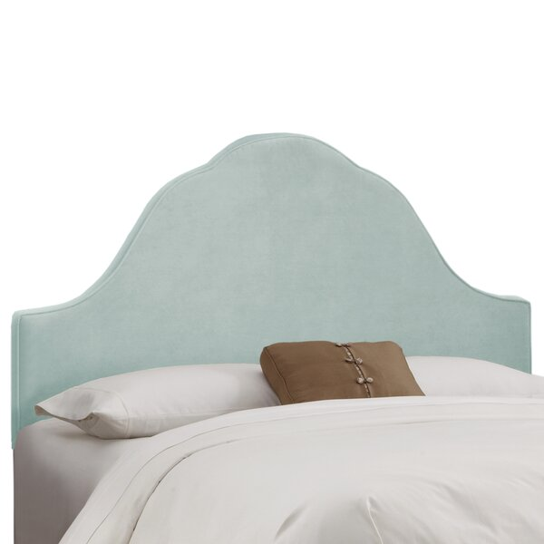 Arched Upholstered Panel Headboard by Skyline Furniture