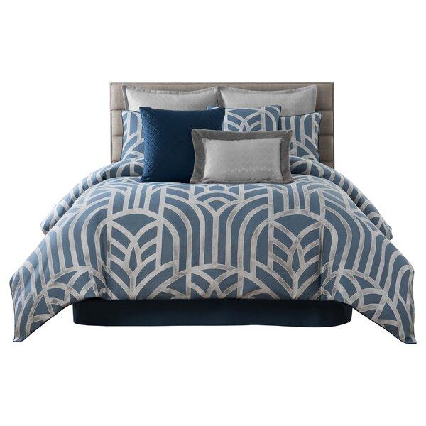 Furst Geometric Jacquard Reversible Comforter Set