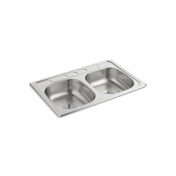 Middleton 33 L x 22 W Self Rimming Double Bowl Kitchen Sink