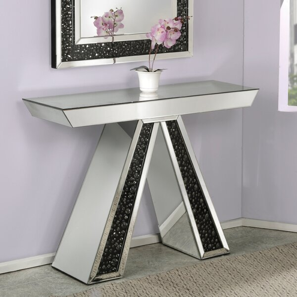 Blakes Mirrored Console Table by Rosdorf Park