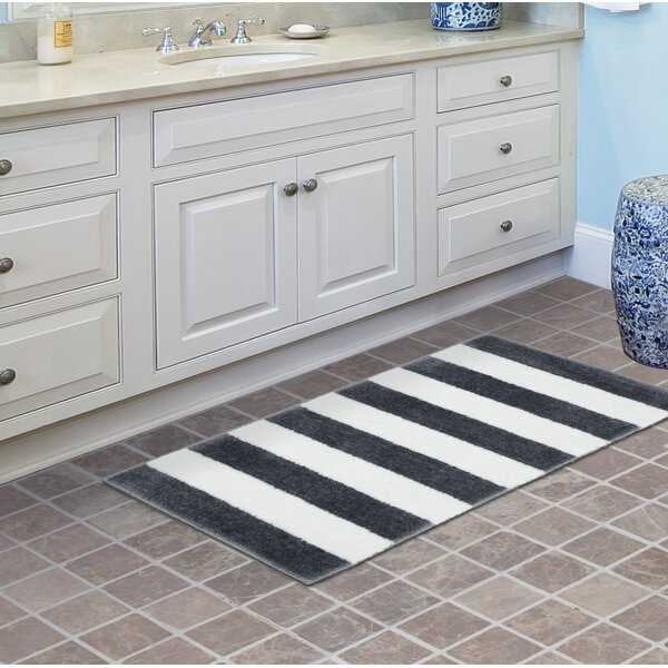 Gentle Beach Stripe Bath Rug by Breakwater Bay