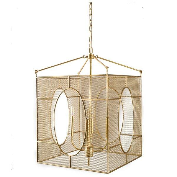Alondra 4 - Light Lantern Square Chandelier By Brayden Studio