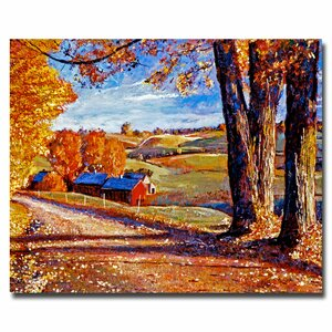 Autumn Evening by David Lloyd Glover Painting Print on Wrapped Canvas by Trademark Fine Art