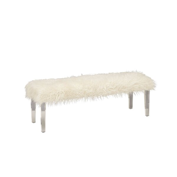 Acrylic Wood Bench by Cole & Grey