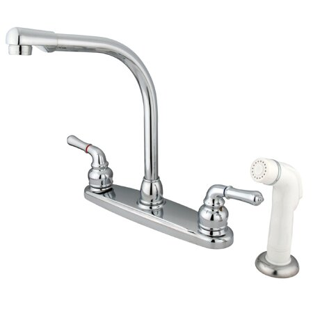 Magellan High Arch Kitchen Faucet with Sprayer by Kingston Brass