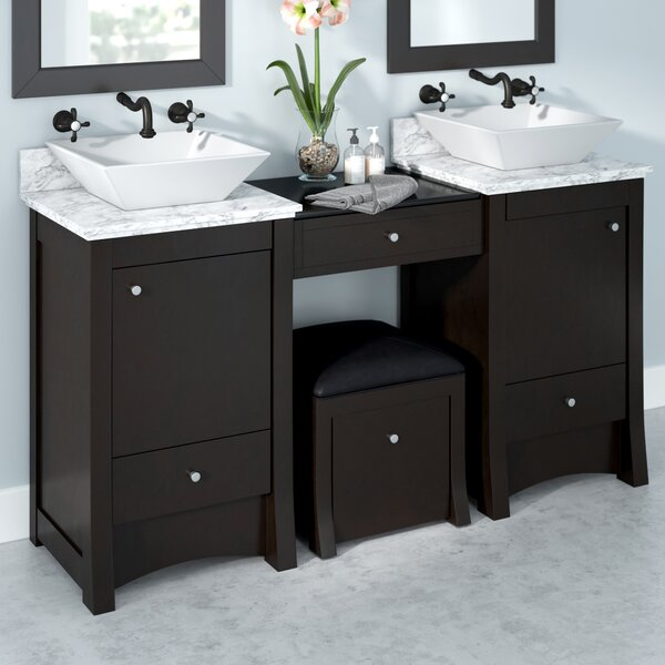 Kimbrell Transitional Wall Mount 61 Double Bathroom Vanity Set by Royal Purple Bath Kitchen