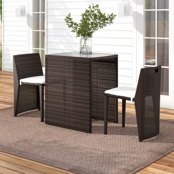 Damarion 3 Piece Rattan Seating Group With Cushions By Zipcode Design by Zipcode Design No Copoun