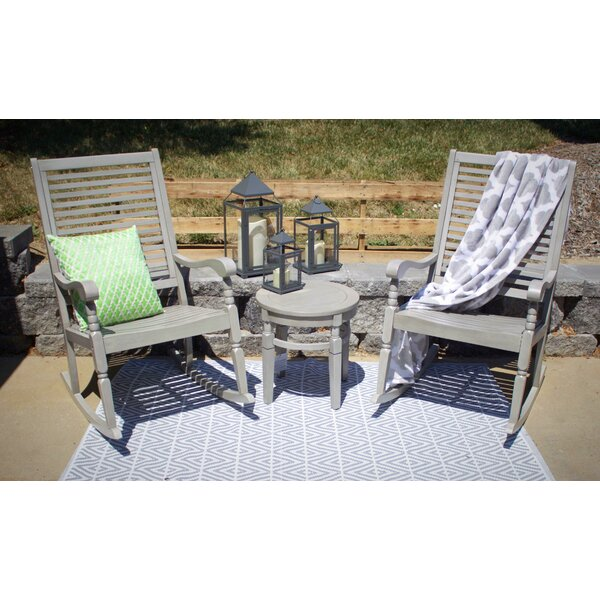 Linco Hardwood Porch 3 Piece Seating Group with Cushions by Highland Dunes Highland Dunes