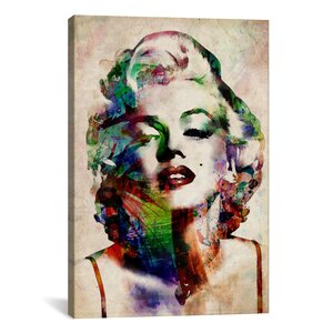 'Watercolor Marilyn Monroe' Graphic Art Print by East Urban Home