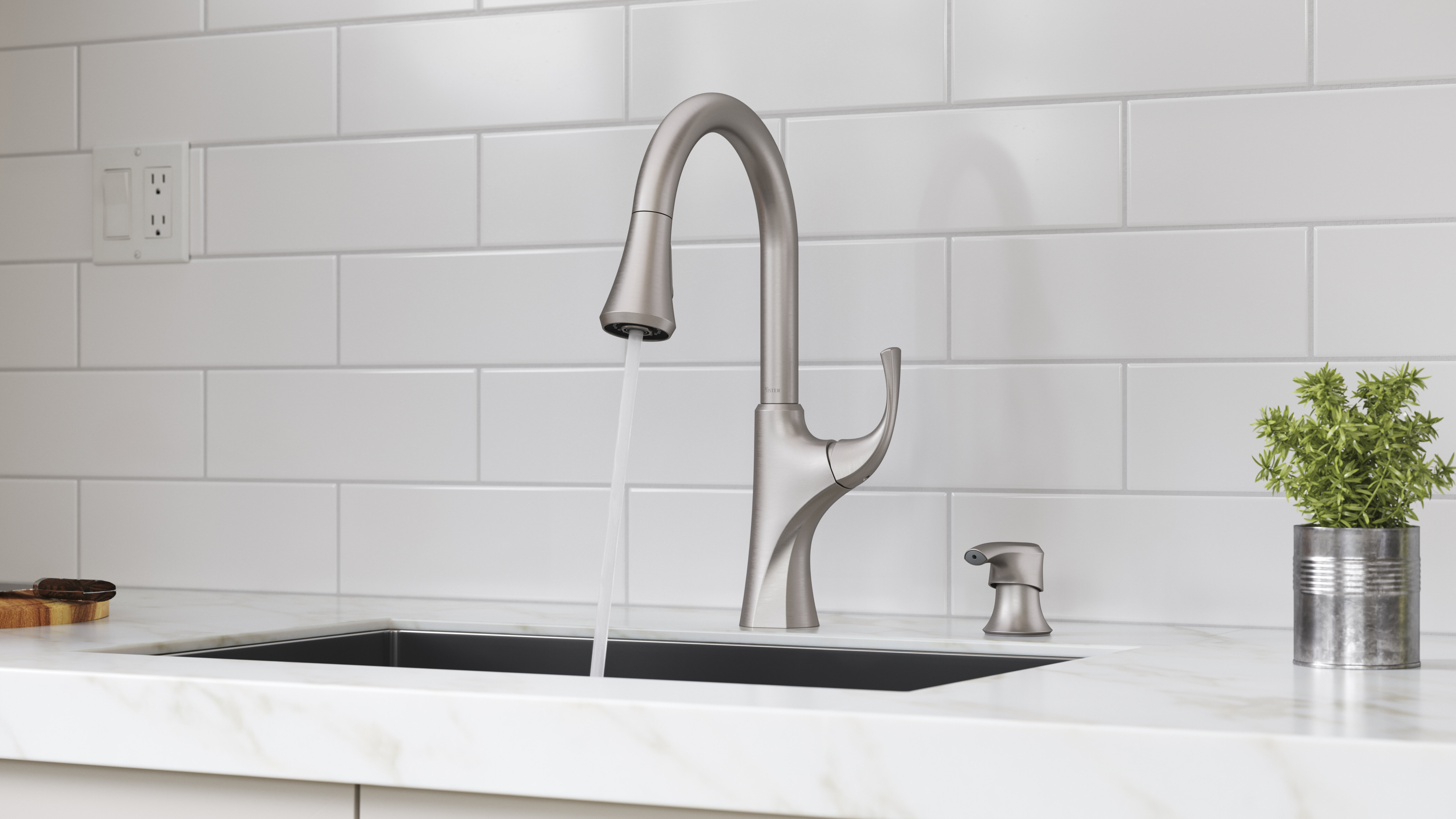 Miri Pull-Down Single Handle Kitchen Faucet with Spot Defense Stainless  Steel