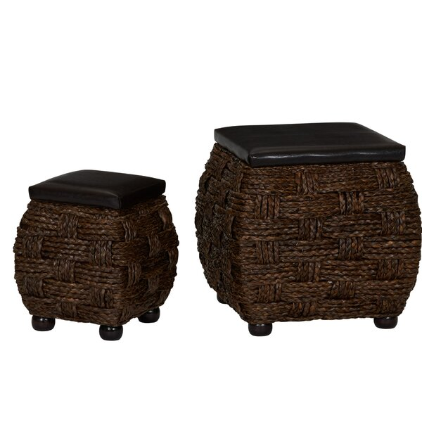 Cassius Wicker 2 Piece Storage Ottoman Set By Gracie Oaks Wonderful