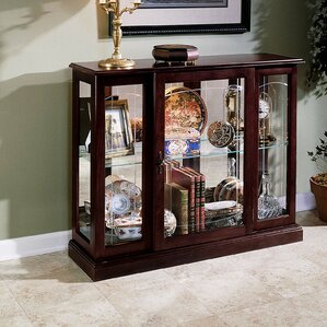 Purvoche Lighted Console Curio Cabinet by Darby Home Co