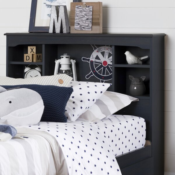 Aviron Twin Bookcase Headboard by South Shore