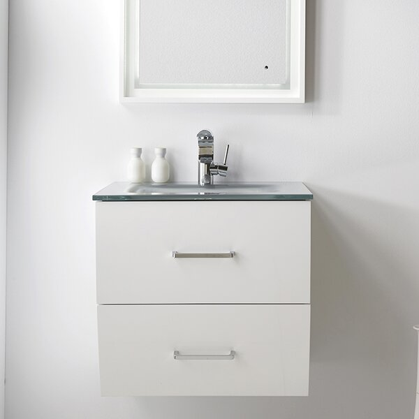24 Wall-Mounted Single Bathroom Vanity Set by Fresca