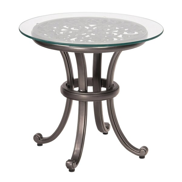 New Orleans Side Table with Glass Top (Set of 2) by Woodard
