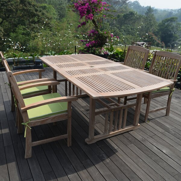 Monterey 5 Piece Teak Dining Set with Cushions by Cambridge Casual