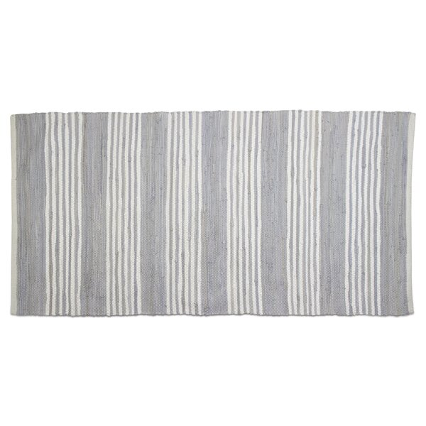Chindi Stripe Hand-Loomed Gray Area Rug by TAG