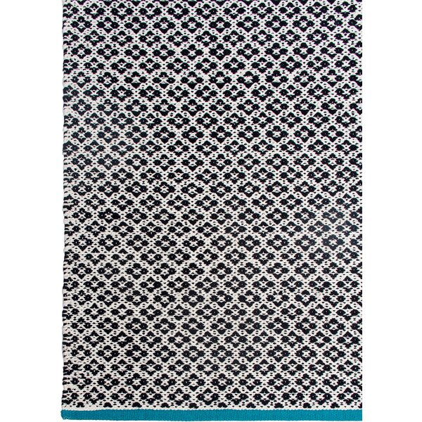 Zen Hand-Woven Black Area Rug by Fab Habitat