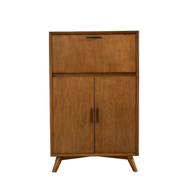 Elvira Wooden Drop Down Tray and Double Door Bar Cabinet by Corrigan Studio Corrigan Studio