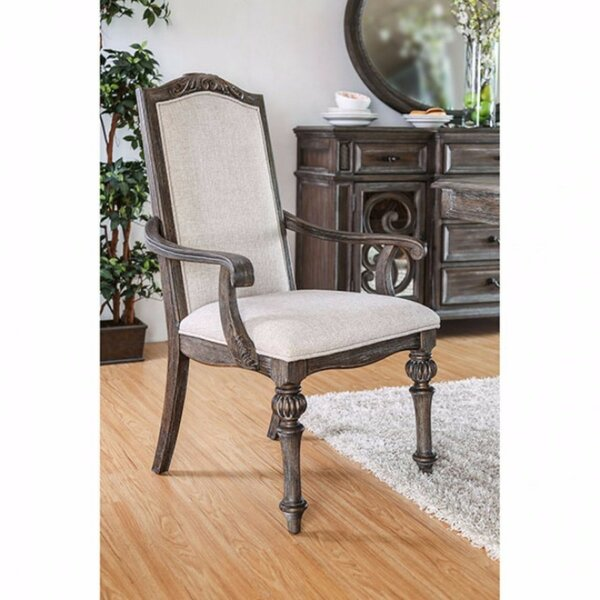 Tinker Wooden Upholstered Dining Chair (Set of 2) by One Allium Way