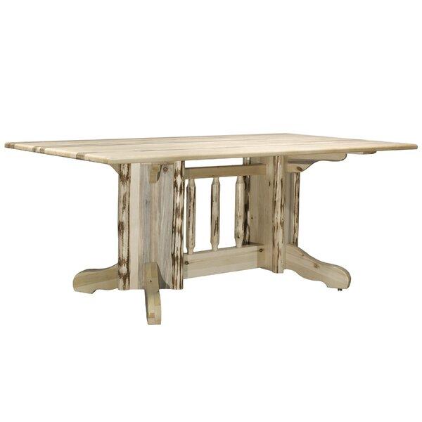 Tustin Solid Wood Dining Table by Loon Peak Loon Peak
