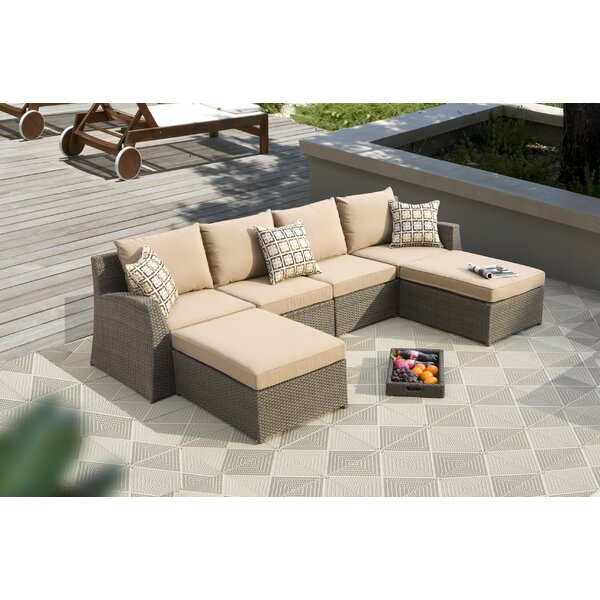 Vesperina 6 Piece Sunbrella Sectional Seating Group with Cushions by Latitude Run